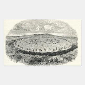 Avebury - henge neolítico rectangular pegatinas