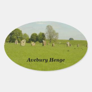 Avebury Henge - Reino Unido Pegatina Ovalada