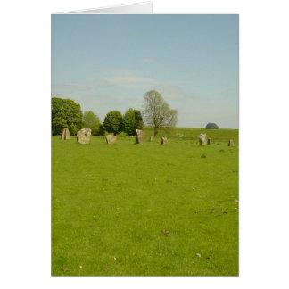 Avebury Henge - Reino Unido Tarjeta De Felicitación