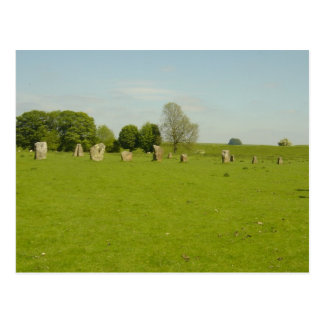 Avebury Henge - UK Postcard