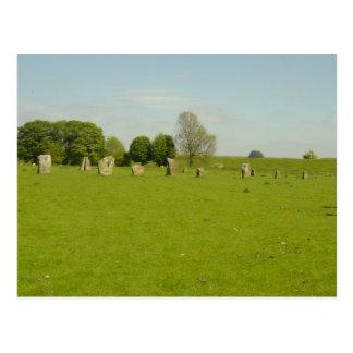 Avebury Henge - UK Postcard