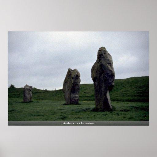 Avebury rock formation poster