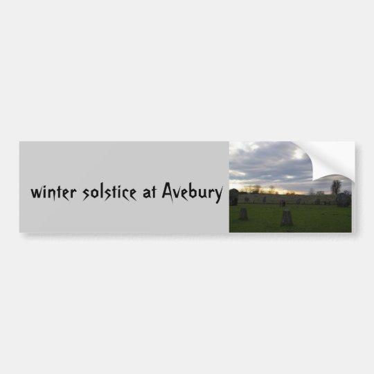 Avebury Solstice Bumper Sticker