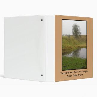 Avebury Tree - Quote 3 Ring Binder