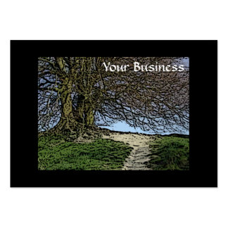 Avebury, Wiltshire, England. Tree and path. Business Card Template