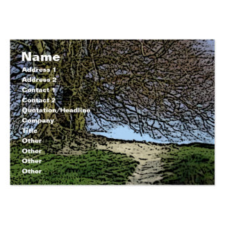 Avebury, Wiltshire, England. Tree and path. Business Card Templates