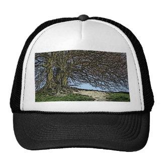 Avebury, Wiltshire, England. Tree and path. Trucker Hats