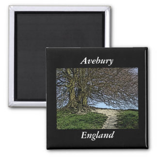Avebury, Wiltshire, England. Tree and path. Refrigerator Magnets