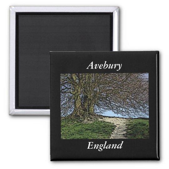 Avebury, Wiltshire, England. Tree and path. Magnet