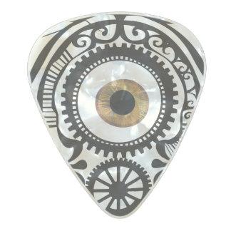 Avellano del caramelo del ojo plectro de celuloide nacar