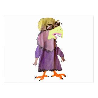 Avellano la señora del pájaro postales