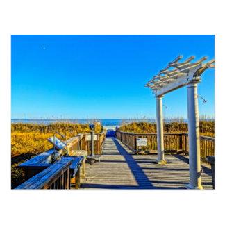 ¡Avena arena y resaca del mar! SC de Hilton Head Tarjetas Postales