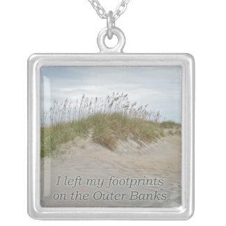 Avena del mar en la duna de arena Outer Banks NC Colgante Cuadrado