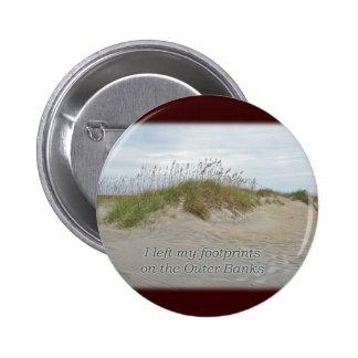 Avena del mar en la duna de arena Outer Banks NC Pin Redondo De 2 Pulgadas