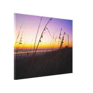 Avena del mar en la salida del sol en Daytona Lienzo Envuelto Para Galerías