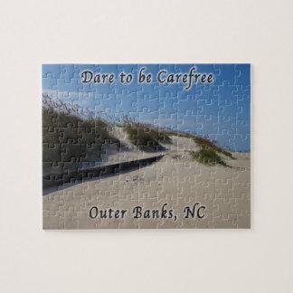 Avena Outer Banks NC del mar de las dunas de arena Rompecabezas
