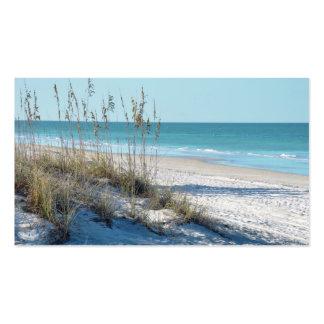 Avena serena del mar de la playa y agua azul plantilla de tarjeta personal