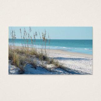 Avena serena del mar de la playa y agua azul tarjetas de visita