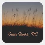 Avena y dunas del mar de Outer Banks NC en la Colcomanias Cuadradases