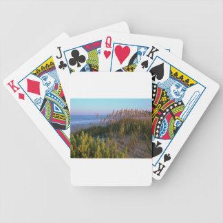 Avena y playa del mar baraja cartas de poker