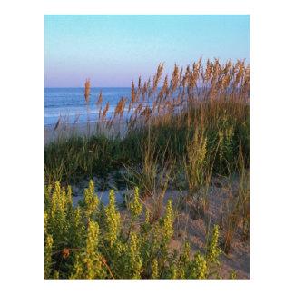 Avena y playa del mar membrete personalizado