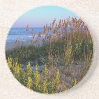 Avena y playa del mar posavasos personalizados