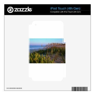 Avena y playa del mar iPod touch 4G calcomanías