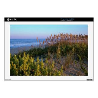 Avena y playa del mar calcomanía para portátil