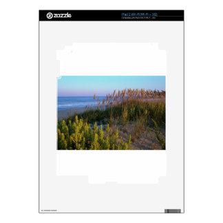 Avena y playa del mar calcomanías para el iPad 2