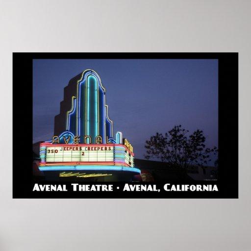 Avenal Theatre11x17 Poster