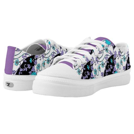 avendar swirl custom tennis shoes printed shoes zazzle