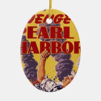 Avenge Pearl Harbor Ceramic Ornament
