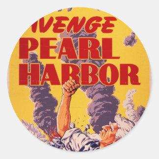 Avenge Pearl Harbor Classic Round Sticker