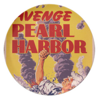 Avenge Pearl Harbor Dinner Plate