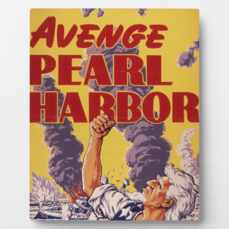 Avenge Pearl Harbor Plaque