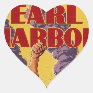 Avenge Pearl Harbor Heart Sticker