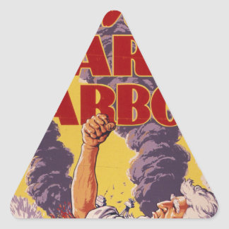 Avenge Pearl Harbor Triangle Sticker