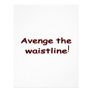Avenge The Waistline Flyer Design