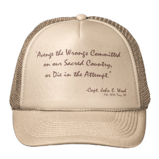 Avenge the Wrongs or Die in the Attempt Mesh Hats
