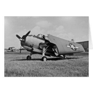 Avenger with wings folded greeting cards