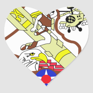 AVENGERS Air CAV Heart Sticker