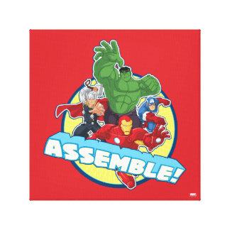 Avengers Assemble! Canvas Print