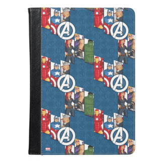 Avengers Assemble Characters Kid Pattern iPad Air Case