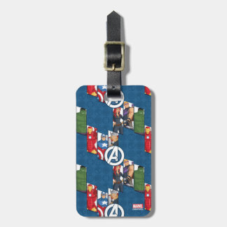 Avengers Assemble Characters Kid Pattern Luggage Tag