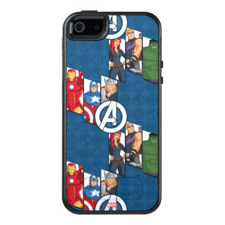 Avengers Assemble Characters Kid Pattern OtterBox iPhone 5/5s/SE Case