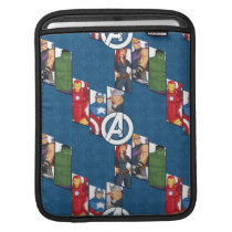 Avengers Assemble Characters Kid Pattern Sleeve For iPads