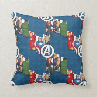 Avengers Assemble Characters Kid Pattern Throw Pillow