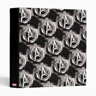 Avengers Assemble Grunge Pattern 3 Ring Binder