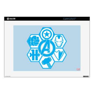 "Avengers Assemble Icon Badge 15"" Laptop Skin"