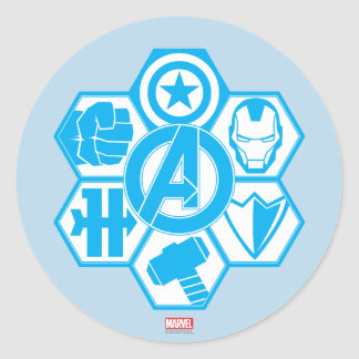 Avengers Assemble Icon Badge Classic Round Sticker